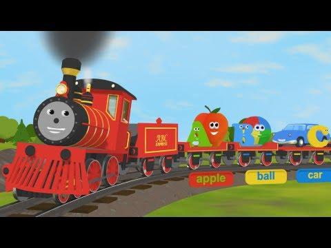 Alphabet Train Poster Xl Great Train Theme Fun And