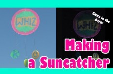 Easy Kids Crafts – MAKE A SUNCATCHER Glow in the Dark