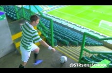 Extreme cross bar challenge – STR Unseen –  Celtic park trick shot