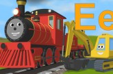 Learn about the letter E (with Alice's new voice!)