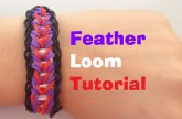 Loom bands FEATHER Loom bracelet Tutorial l JasmineStarler