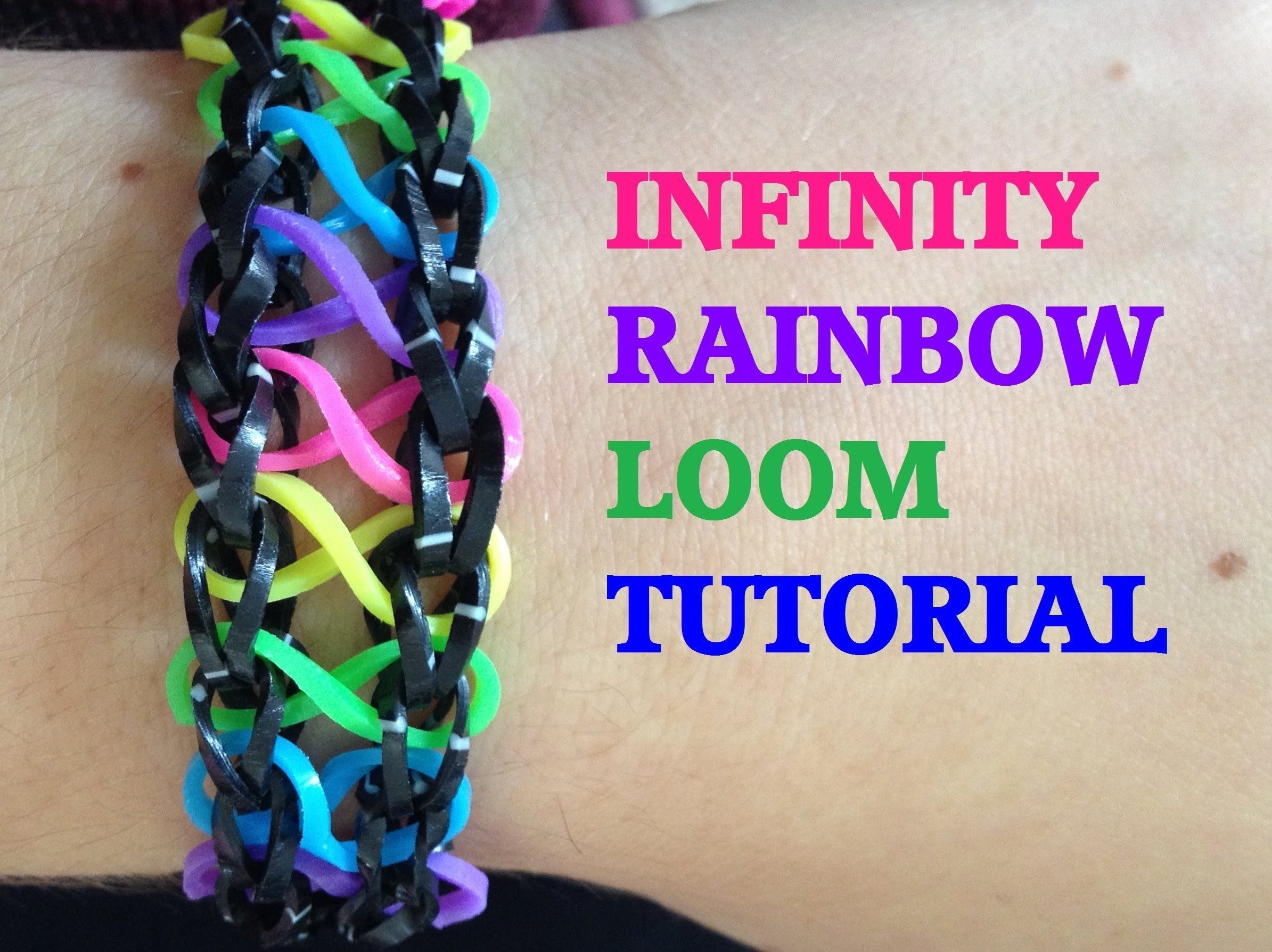 New Reversible Infinity Stripe Monster Tail Rainbow Loom Bracelet Tutorial How To You