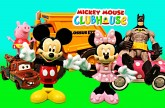 Mickey Mouse Clubhouse with Peppa Pig Minnie Mouse Superheroes Batman Ninja Turtles