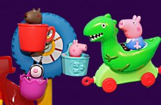 Peppa Pig Amusement Park and George Pig Dinosaur Ride Nickelodeon Julius Jr Playset Peppa Pig