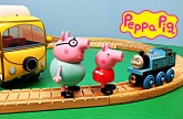 Peppa Pig Campervan Daddy Pig George Pig Mommy Pig Toys Review Thomas the Tank Engine
