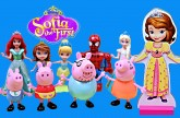 Sofia The First Doll with Peppa Pig, Mermaid Oona, Lego Duplo Spiderman and Frozen Elsa Magnet Doll