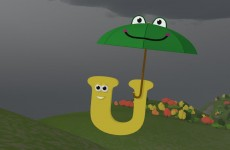 The Umbrellas help the Letters stay dry! (Learn about the letter U with Shawn the Train)