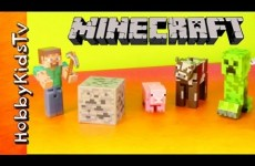 Action Figures MINECRAFT Steve, Creeper! [Toy Review] [Box Open] [Muppets Most Wanted]