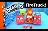 Beados Firetruck + Mater Explodes on Fire! Lightening McQueen, Red by HobbyKidsTV #HKTV