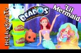 Beados Little Mermaid! Patrick Loves Shopkins, Princess Castle, Play-Doh HobbyKidsTV #HKTV