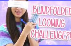 BLINDFOLDED LOOMING CHALLENGE | TutorialsByA