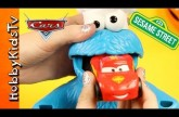 Cookie Monster Eats Cars and Trucks – Lightning McQueen – Sesame Street