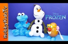 Disney Frozen Olaf Meets Cookie Monster and Mr. Potato Head – Toy Opening, Review, Play