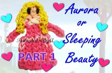 {Disney Princess Series} PART 1 Aurora / Sleeping Beauty Figurine Rainbow Loom Tutorial