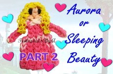 {Disney Princess Series} PART 2 Aurora / Sleeping Beauty Figurine Rainbow Loom Tutorial