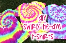 DIY Swirly Tie-Dye T-Shirts | How To | Tutorial