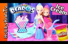 Elsa Frozen Ice Cream Magic Beados Studio! Princess Anna + Frozen Surprise Egg Play-Doh HobbyKidsTV