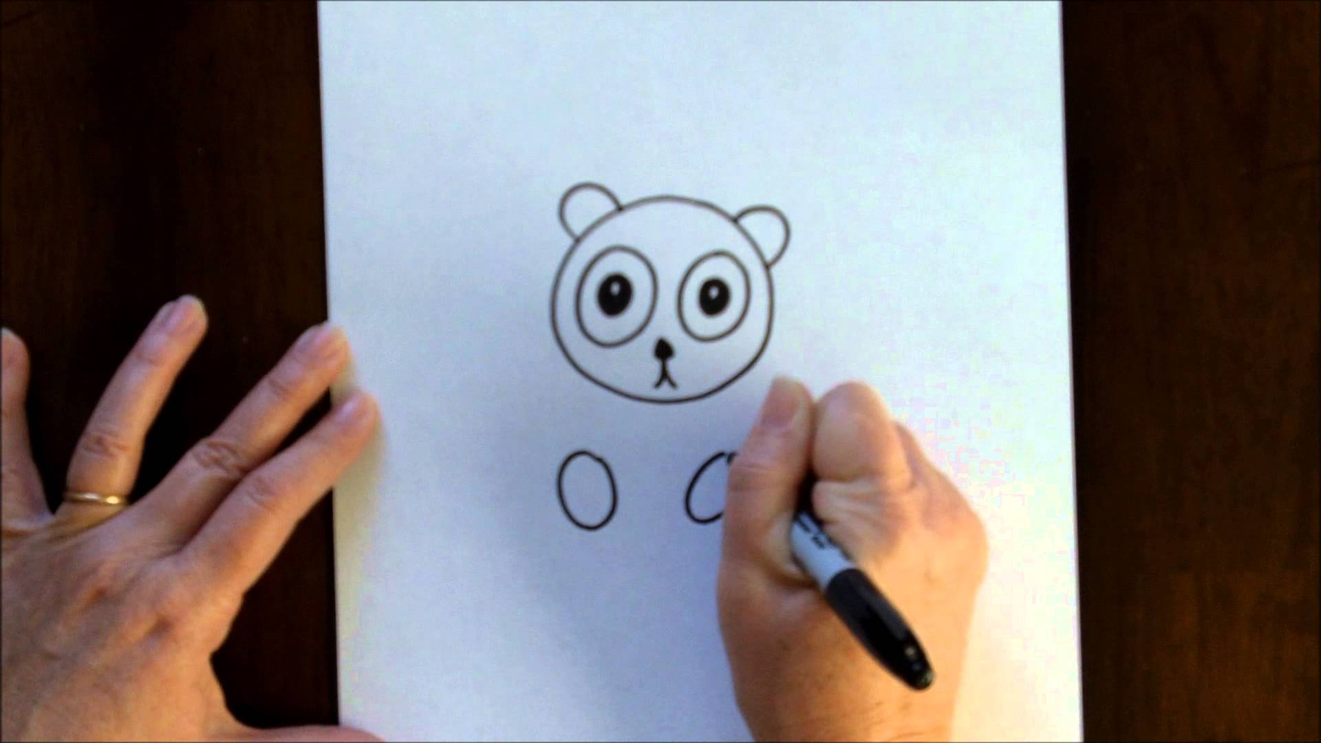 Free Art Lesson For Kids How To Draw A Cartoon Panda Bear Baby Easy
