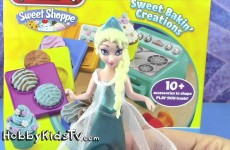 FROZEN Anna BABY Shower + Surprise Treats! Elsa Bakes, Rex, Batman [Box Open] HobbyKidsTV