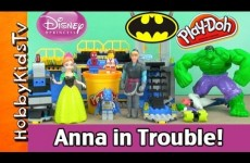 FROZEN Anna In Trouble from Hans! Kristoff, Emmet, Batman & Hulk Rescues!!