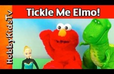 FROZEN'S Elsa and Rex Play! Hobby Baby Reacts to TICKLE ME ELMO!
