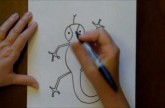 How to Draw a Cartoon Lizard Easy Drawing Lesson for Children