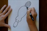 How to Draw a Cartoon Platypus Step by Step Drawing Tutorial