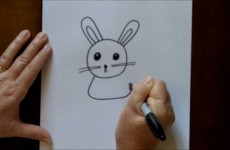 How to Draw a Cartoon Rabbit Bunny Step by Step Beginners Drawing Tutorial