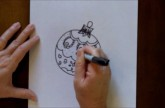 How to Draw a Christmas Ornament Easy Step by Step Kids Drawing Tutorial Lesson