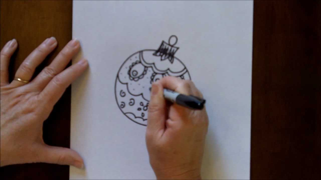 How To Draw A Christmas Ornament Easy Step By Step Kids Drawing