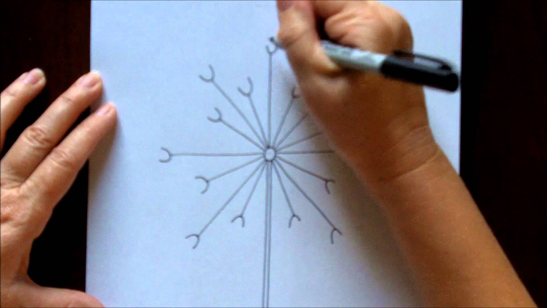 How to draw a dandelion easy free drawing tutorial for for How to draw a dandelion step by step