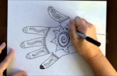 How to Draw a Henna Mehndi Hand Design Free Art Lesson