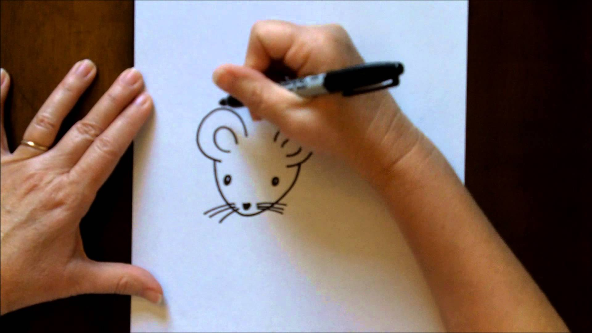 How to draw a mouse cartoon easy drawing lesson for kids for How to draw with a mouse