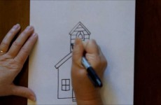 How to Draw a Schoolhouse School House Easy Free Online Drawing Tutorial