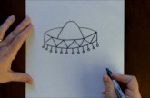 How to Draw a Sombrero Cartoon Step-by-Step Drawing Tutorial for Beginners