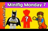 Lego MiniFig Monday 7 Super Heros Spider-man Superman Batman and Wonder Woman HobbyKidsTV