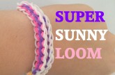 Loom bands SUPER SUNNY (Original Design) Rainbow loom bracelet Tutorial l JasmineStarler