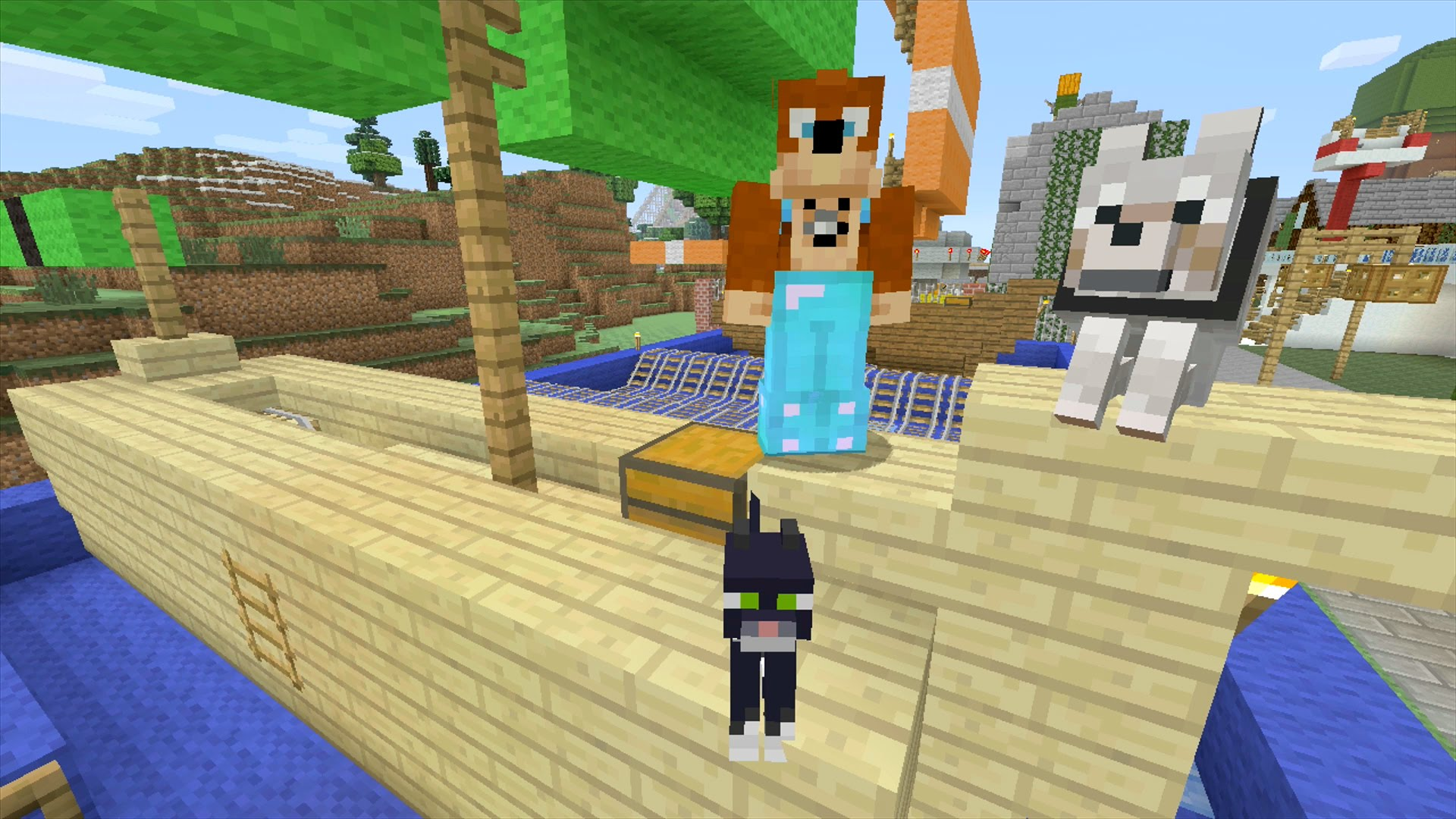 how to make dogs breed on minecraft