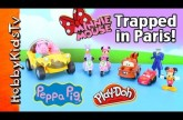 Minnie Mouse Toy Play Mat! Joker PLAY-DOH Traps! Peppa, Lightning, Mickey HobbyKidsTV