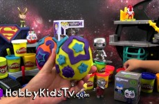 Mystery Toys! Play-Doh Eggs, Kidrobot Galaxy Superman Transformers Kinder Surprise HobbyKids