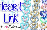 NEW Heart Link Rainbow Loom Bracelet Tutorial | How To