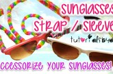 NEW Sunglasses / Glasses Strap Sleeve Trisingle Rainbow Loom Tutorial | How To