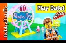 Peppa Pig PlayGround! Emmet, WyldStyle on a Date! Spongebob, Batman, Unikitty [Lego Movie]