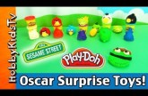 PLAY-DOH Angry Birds Toy Surprises! Sesame Street Oscar Grouch Tells Jokes and Helps!