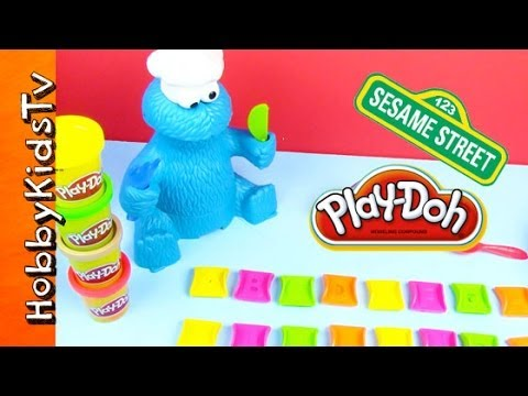 Play Doh Cookie Monster Eats Abcs We Sing Alphabet