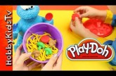 PLAY DOH Cookie Monster Eats Veggies – Learn Vegetables – Sesame Street