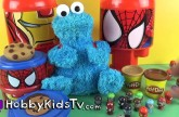 Play-Doh Cookie Monster Surprise Cookie Egg Eat Bonk a Zonk Marvel Super Hero HobbyKidsTV