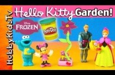 PLAY-DOH Hello Kitty Garden! FROZEN Princess Anna Surprise! Minnie, Cookie Monster Helps!