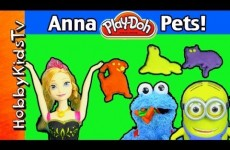Play-Doh Pets for Anna, Mickey Mouse, Cookie Monster, Super Mario, Emmet, Spider-man.