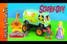 PLAY-DOH Scooby Doo Trapped by Fire! Batman, Spiderman, Disney Princess Rapunzel, Minecraft